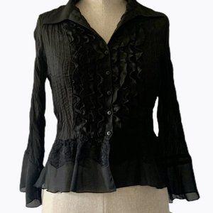 🆕Allison Taylor Ruffled Sheer blouse